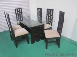 Glass Top Dining Table Designs In Hyderabad Glass Dining Table - Glass top dining table hyderabad