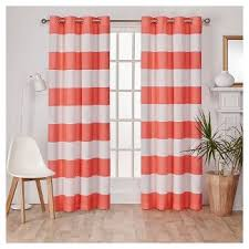 Striped Curtain Panels Horizontal Rugby Stripe Curtain Panels Target