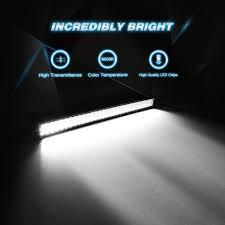 jeep light bar at night amazon com led light bar nilight 32 inch 180w spot flood combo