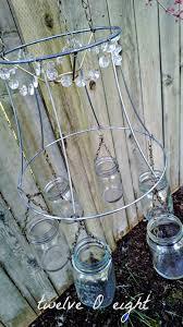 How To Mason Jar Chandelier Mason Jar Chandelier Twelveoeight