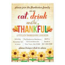 lunch invitation cards lunch potluck eat drink give thanks invitation card