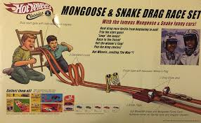 Yellow Flag With Snake Amazon Com Wheels Classics Mongoose U0026 Snake Drag Race Set