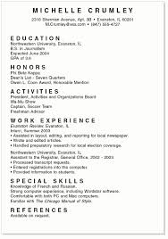Examples Of A Chronological Resume sample high student resume template college student resume
