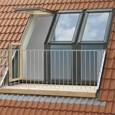 roof window transformed into a small balcony all architecture