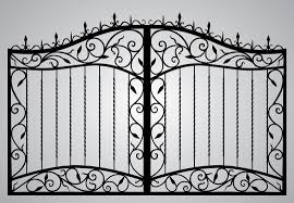 Rod Iron Home Decor Wrought Iron Gate Door Fence Window Grill Railing Design Stock