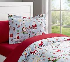 christmas bedding u0026 bed sheets pottery barn kids