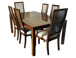 Buy Dining Chairs Online India Vintage Henredon Campaign Dining Set Chairish