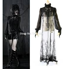 halloween prom punk gothic casual long blouse chiffon women halloween prom