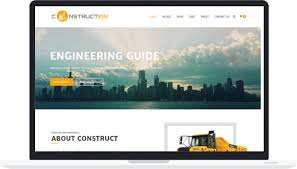 free theme for construction building architect company
