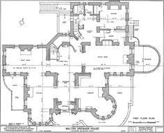 Victorian Era House Plans Gothic Mansion Design Plans From The 1800s Front Elevation And