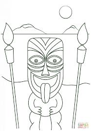 printable tiki mask coloring pages kids coloring