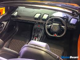 Lamborghini Huracan Interior - lamborghini huracan rwd spyder launched priced at rs 3 45 crores