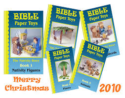 my little house bible paper toys book 1 nativity figures