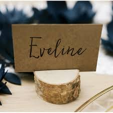 wooden place card holders rustic boho christmas pinterest