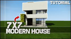 Modern House Minecraft Minecraft House Tutorial 7x7 Modern House Best House Tutorial