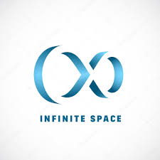 infinity sign negative space abstract vector infinity sign symbol or logo
