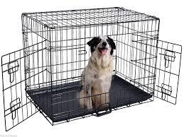 24 u0027 u0027 2 doors wire folding pet crate dog cat cage suitcase kennel