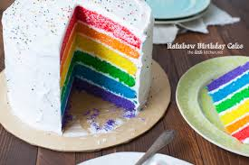 rainbow birthday cake kitchen
