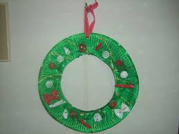 easy paper plate christmas wreath craft preschool education for kids