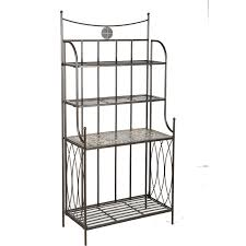 Decorating A Bakers Rack Ideas Tips Decorative Outdoor Bakers Rack For Indoor And Outdoor Use