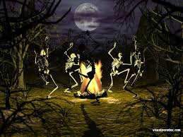 Skeleton Bones For Halloween by Haunted Halloween Backgrounds Full Moon Trees Scary Haunted
