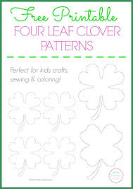 free printable four leaf clover templates u2013 large u0026 small patterns