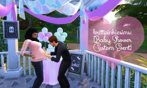 baby shower mod brittpinkiesims sims 4 custom content