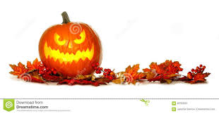 Free Halloween Border by Halloween Jack O Lantern With Red Autumn Leaves Border Stock Photo