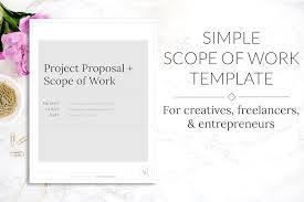 scope of work u0026 project proposal brochure templates creative