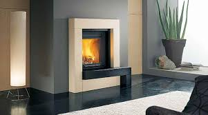 glossy fireplace design idea with gray wall white accent black