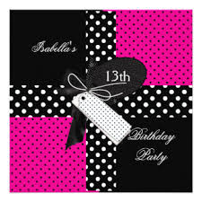 girls 13th birthday party invitations u0026 announcements zazzle