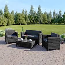 Rattan Garden Furniture Sofa Sets New 4 Piece Grey Light Brown Roma Rattan Garden Furniture Sofa