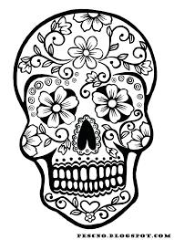 printable coloring pages sugar skulls free printable sugar skull coloring pages coloring pages sugar
