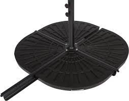 Offset Patio Umbrella With Base Resin Umbrella Base Weights For Offset Umbrella Set Of 2 30lbs