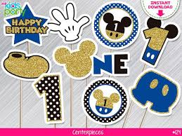 mickey mouse centerpieces instant royal blue and gold glitter mickey mouse