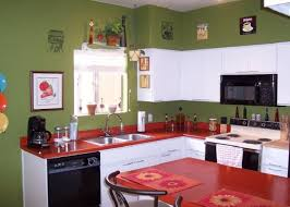 Painting Kitchen Countertops by Hand Painted Kitchen Countertops With Red Colors Painted