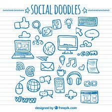 doodle vectors free social network doodles vector free