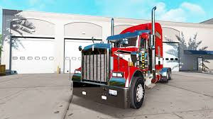 skin red on the truck kenworth w900 for american truck simulator