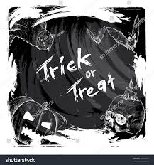 trick treat halloween halloween background stock vector 304502429