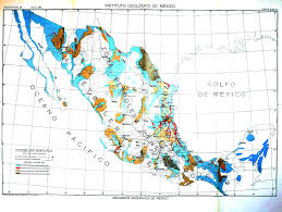 Mexico Maps Geopolitical Mexico Mexican Petroleum Map 4 Mineral Map