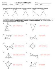 triangle congruence and cpctc proving triangles congruent w key