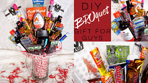 Homemade Valentines Gifts For Him by Man Bouquet Broquet Diy Valentine U0027s Day Gift For Guys Youtube