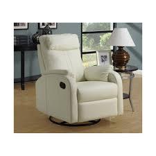 Swivel Rocker Chairs For Living Room Amazon Com Monarch Specialties Bonded Leather Swivel Rocker