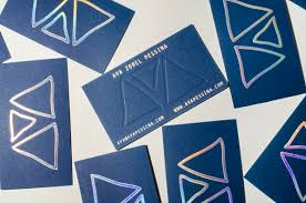 Custom Holographic Business Cards Spotlight On Poolside Blue Printing For Summer Publicide Inc