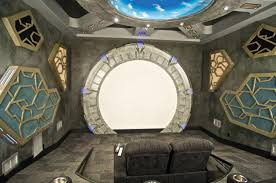 Home Theater Design Books Stargate Atlantis Themed Home Theater Entirely Ridiculous And