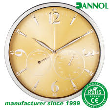 Wall Watch by Wall Clock With Temperature And Humidity Wall Clock With
