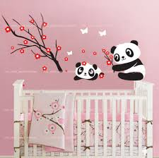 panda wall decals for nursery color the walls of your house panda wall decals for nursery cute panda bears play wall stickers removable nursery baby girls