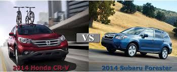 subaru forester vs honda crv to comparison 2014 honda cr v vs 2014 subaru forester