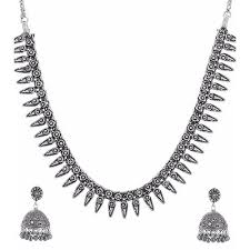 silver necklace sets images Silver necklace set chandi ka har set heera panna noida id jpg