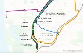 Muni Metro Map by Four Car Muni Metro Service In The M Line Subway U2013 Muniverse